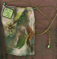 Fairy Glade  wet felted bag van ThistleWoolworks op Etsy, $95.00