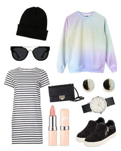 """""""itshirt"""" by tokohutama on Polyvore featuring M.i.h Jeans, Ash, NLY Accessories, Erica Weiner, Jimmy Choo, Quay and shirtdress"""