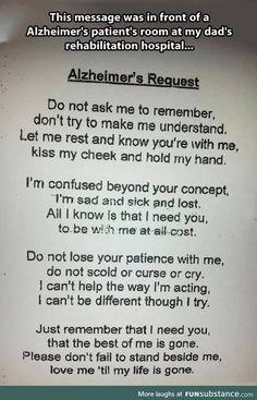 Alzheimer's Request