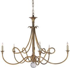 """OUBLE TWIST FIVE-LIGHT CHANDELIER  item # SC5005   