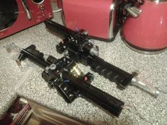 Hand made ghostbusters guns