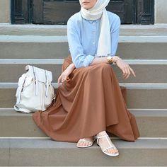 Turkish hijab style 2016 for mohajaba Islamic Fashion, Muslim Fashion, Modest Fashion, Girl Fashion, Fashion Outfits, Hijab Fashion Summer, Fashion Bags, Style Fashion, Hijab Casual