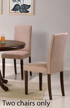 Set of 2 Parson Dining Chairs - Contemporary Style Beige Finish by Poundex, http://www.amazon.com/dp/B002GQJ94E/ref=cm_sw_r_pi_dp_KOegrb1WRB1CP