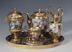 Sèvres Manufactory; Étienne Charles Le Guay and Jacques-Nicolas Sisson (or Sinsson): Breakfast service (dejeuner) (56.29.1-8) | Heilbrunn Timeline of Art History | The Metropolitan Museum of Art