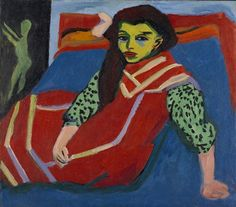 Seated Girl (Fränzi Fehrmann) / Ernst Ludwig Kirchner / 1910 (altered 1920) / Oil on canvas / Mpls Institute of Arts / love the bold colors in this