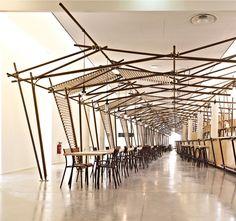 1024 architecture's 24 lines illuminate la panacee cafe
