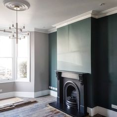 🤞 After the first and second slate hearths cracked shortly after install, we got a specialist in this time. Our builders New Living Room, Living Room Decor, Foyers, Edwardian Haus, Inchyra Blue, Slate Hearth, Victorian Living Room, Front Rooms, Living Room Inspiration