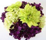 Wedding, Flowers, Green, Purple, Hydrangea, Dahlia