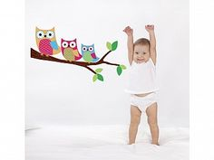shopify four happy owl friends wall decals stickers art see more ...