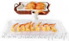 Presentazione tempura di gamberi