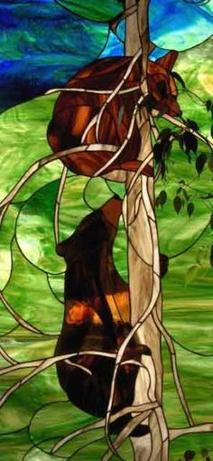 Grizzly Bear Stained Glass Patterns | ... Raymond Loren Hellmen for Tree Bears and Linda P. Davis for Fisherman