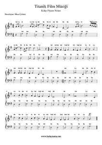 Titanik Kolay Piyano Notasi Pi Yano Notalara Dokulmus Muzik Flut