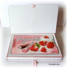 Heute habe ich für euch ein Tutorial, um eine Yogurette Box zu verschenken.. (es passt aber auch eine Kinder-Riegel Schachtel hinein)..   Fa...