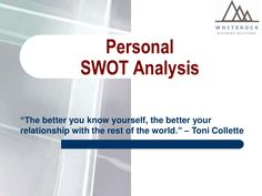 Businesses Use SWOT Analysis To Help Them Identify Their Strengths Weaknesses Opportunities And External Threats Conducting A Personal Can