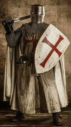 Pin on Templar Medieval Knight, Medieval Armor, Medieval Fantasy, Armadura Medieval, Knights Hospitaller, Knight Tattoo, Crusader Knight, Knight Art, Chivalry