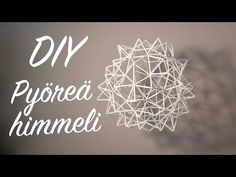 Tee se itse | Kranssi muovipilleistä | Himmelikranssi - YouTube Diy And Crafts, Arts And Crafts, Diy Projects To Try, Diy Videos, Decorative Items, Paper Flowers, Cross Stitch, Diys, Bloom
