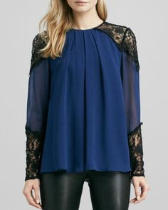 Danyelle Lace-Trim Top at CUSP Small