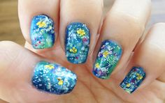 Monet Impressionist Water Lily Nails