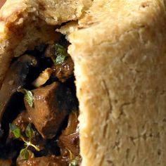 Wild venison, field mushroom and ale pudding