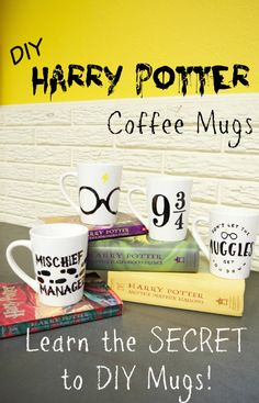 DIY Harry Potter Coffee Mugs Tutorial