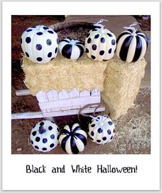 I was so inspired by all the black and white halloween stuff that I decided to do this project. #pumpkin #halloween #black and white