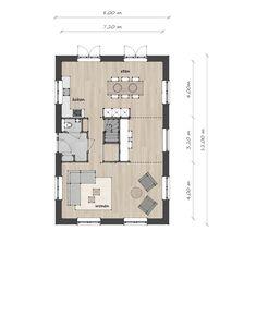 Kleine Kaap B - Lighthouse Living Residential Interior Design, Interior And Exterior, Layout, Modern Barn, House Inside, Cabin Design, Plan Design, House Floor Plans, Home Deco