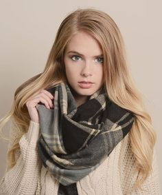 Look what I found on #zulily! Black Plaid Infinity Scarf #zulilyfinds