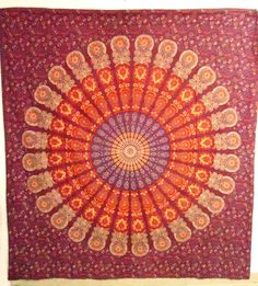 Indian #Mandala #Tapestry Hippie Wall Hanging,Dorm Tapestry Throw #Bedspread decor