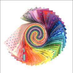 40 Piece Assorted Jelly Roll 2.5 x 44-1260JR Moda Stars And Stripe Gatherings