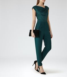 8d4c825dd739 How wonderful to see this beautiful emerald green jumpsuit from Reiss  Emerald Green Jumpsuit