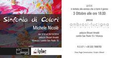 Presentazione della Mia personale di Pittura a Vicenza il 3 ottobre ore 18,00