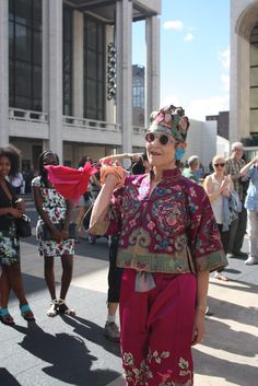 ADVANCED STYLE: Advanced Style's Flash Fashion Show in Lincoln Center