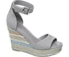 Keil Sandalette von Catwalk in grau - deichmann.com