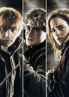 Ron Weasley, Harry Potter & Hermione Granger. I love his it portrays them as who they are on the movies. I hate when people bring up the actors themselves, I love just knowing that that is Harry Potter, he will never be Daniel Radcliffe. Thinking about the actors just takes away from the movies