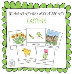 Kleuterjuf in een kleuterklas: Activiteiten met woordkaarten   Thema LENTE