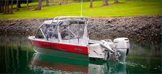 New 2012 Hewescraft 200 Sea Runner Multi-Species Fishing Boat - Beautiful Background.