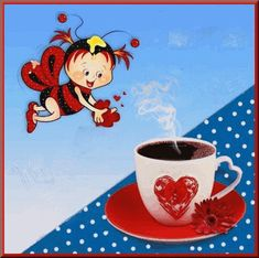 Good Morning Snoopy, Romantic Pictures, Ladybug, Happy Birthday, Merry, Animation, Stickers, Cute, Gifts