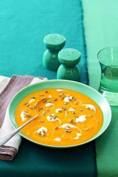 """<p>As the leaves start to change, nothing's more satisfying than staying in and savoring a bowl of hot, rustic soup. Bold, creamy and packed full of flavor, this irresistible recipe calls for fresh butternut squash, pears, onion and grated ginger, all puréed to velvety-smooth perfection. </p><p><a rel=""""nofollow"""" href=""""http://www.womansday.com/food-recipes/food-drinks/recipes/a11042/gingered-squash-pear-soup-recipe-122442/""""><strong>Get the recipe.</strong></a> </p>"""