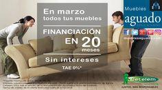 FINANCIA TUS MUEBLES EN 20 MESES, SIN INTERESES. Oferta marzo 2018. #muebles #finaciacionmuebles #mueblesfinanciacion