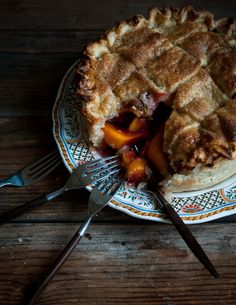 Peach & Lemon Verbena Pie