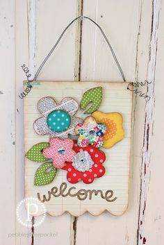 Pebbles In My Pocket Blog: monday giveaway floral welcome
