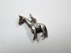 Genuine Sterling Silver Giraffe Traditional Charm #1133