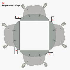 Hippo Free Printable Open Boxes.