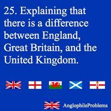 The difference between England, Great Britain, and the United Kingdom