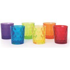 Fantasia a tavola con i bicchieri Dallasdi Excélsa: 6 bicchieri in vetro di 6 colori diversi uno dall'altro adatti ad ogni tipo di tavola.