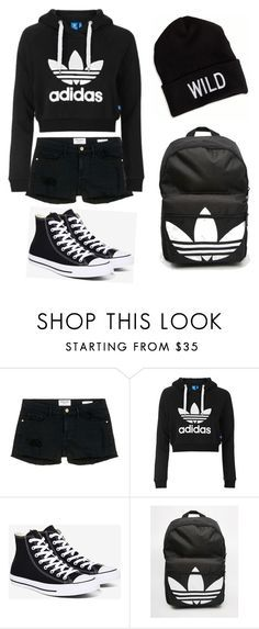 """Untitled #8"" by toyaboswell on Polyvore featuring Frame Denim, Topshop, Converse, adidas and American Eagle Outfitters"
