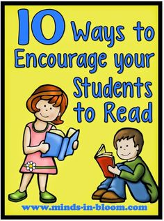 10 Ways to encourage reading in the classroom - Terrific post with plenty of ideas and a couple of freebies too!