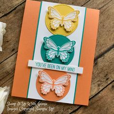 card making ideas for beginners birthday Stampin Up! Clean and Simple Butterfly Gala Card Stamp It Up with Jaimie Pretty Cards, Cute Cards, Simple Butterfly, Stamping Up Cards, Sympathy Cards, Flower Cards, Your Cards, Homemade Cards, Birthday Cards