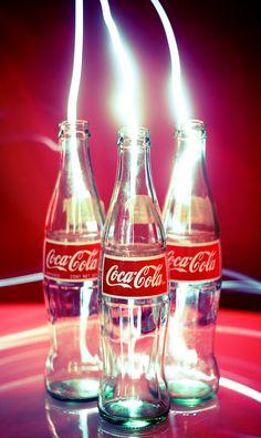 Mexican coke bottles + long exposure + tiny flashlight.