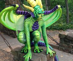 Dragon Costume. This is way too cool, and makes me super excited to start work on a Liara cosplay!